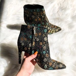 Sam Edelman Olette Dark Floral Heeled Booties